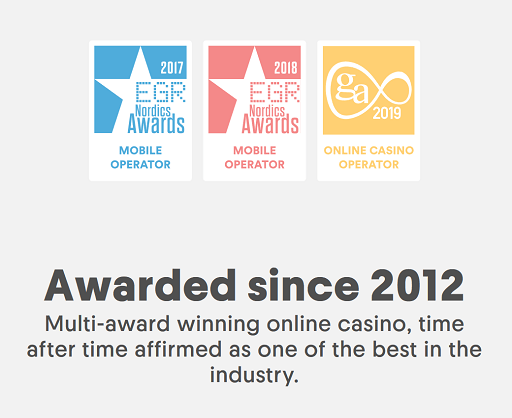 casumo casino awards